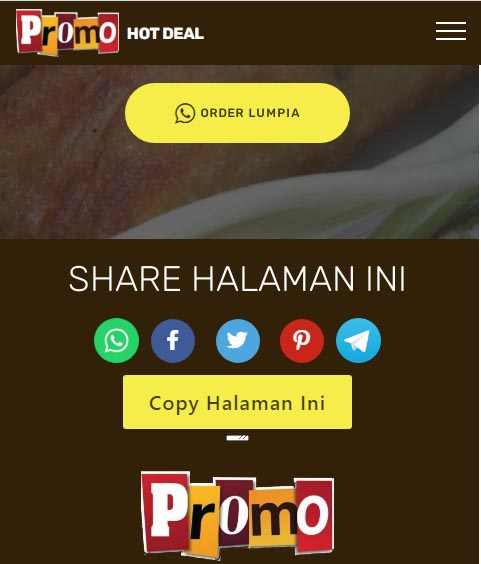Contoh AdPage share